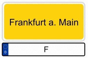 Wunschkennzeichen Frankfurt